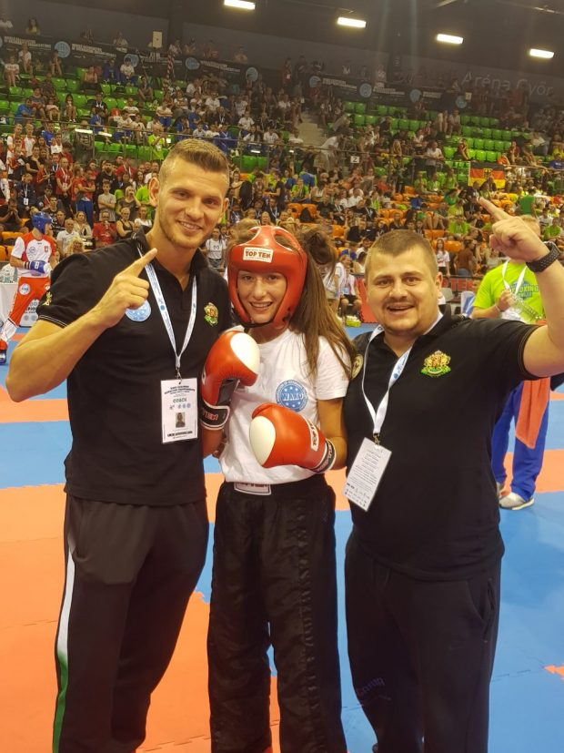 Иван Кръстанов и Иван Георгиев с Европейския шампион Кристина Николова